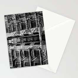 New York fire escapes Stationery Cards