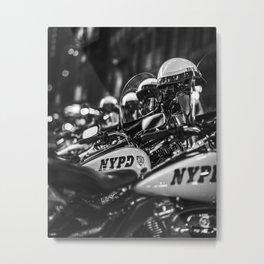 New York City - Police motorcycle Metal Print