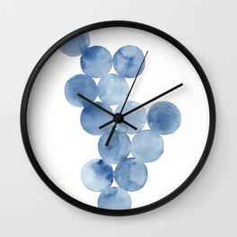 Connection | Watercolor Circles Wall Clock