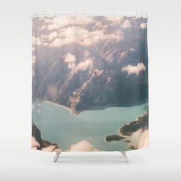 Golden Hour Rockies Shower Curtain