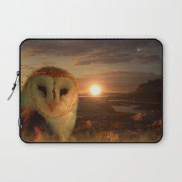Barn Owl Sun & Moon Laptop Sleeve