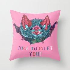 Nice to Meet You! Throw Pillow