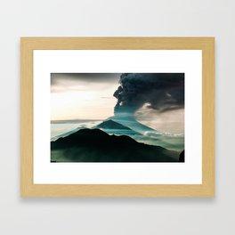 Mount Agung Volcanic Eruption Framed Art Print