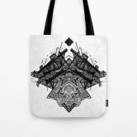 spaceship Tote Bags featuring Spaceship by Hngeb