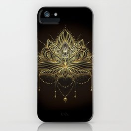 Ornamental Lotus flower iPhone Case