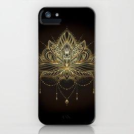 Ornamental Lotus flower iPhone Case