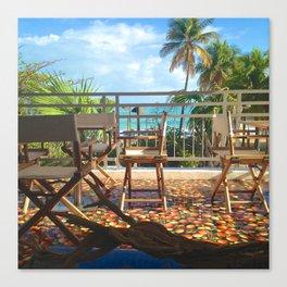 Tropical Beach View Puerto Rico Canvas Print