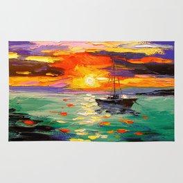 At sunset Rug