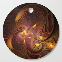 Coming Home, Abstract Fantasy Fractal Art Cutting Board