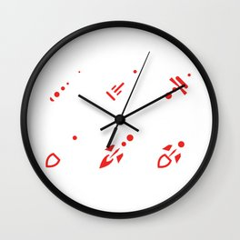 Laser Guns Wall Clock