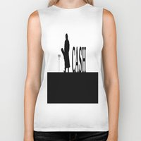 johnny cash Biker Tanks featuring CASH by shannon's art space