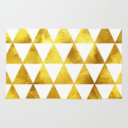 Gold Triangles Rug