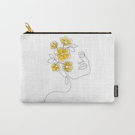 Mustard Bloom Girl Carry-All Pouch