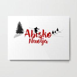 Ski at Abisko Nuolja Metal Print