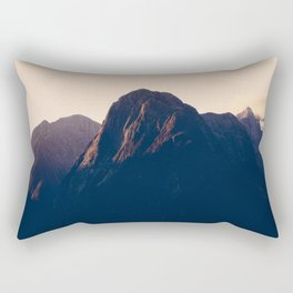Sunset over Milford Sound in New Zealand Rectangular Pillow