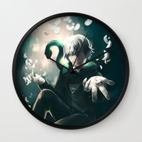 kuroshitsuji Wall Clocks featuring Snake by 1MI0
