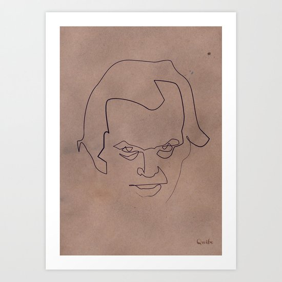 One line Shining Art Print