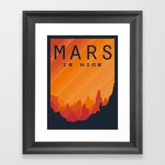MARS Space Tourism Travel Poster Framed Art Print
