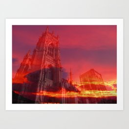 Fire from the Pulpit Art Print