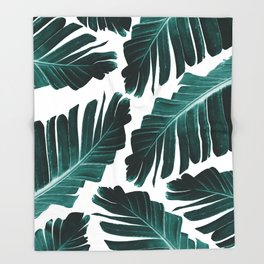Tropical Banana Leaves Dream #1 #foliage #decor #art #society6 Throw Blanket