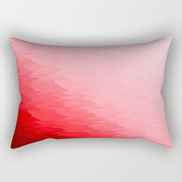 Red Texture Ombre Rectangular Pillow
