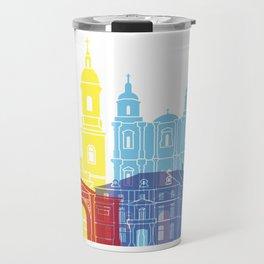 Rennes skyline pop Travel Mug