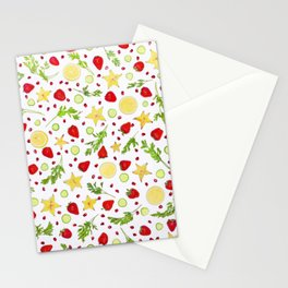 Fruits and vegetables pattern (6) Stationery Cards