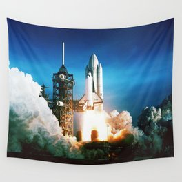 Space Shuttle Launch Wall Tapestry