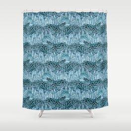 Moonlight Story (Light Blue) Shower Curtain