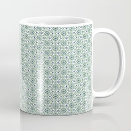 Mint blue stained glass pattern Coffee Mug