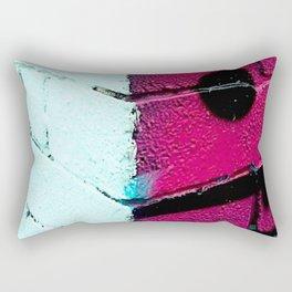 Wall, East London, Shock Pink Rectangular Pillow