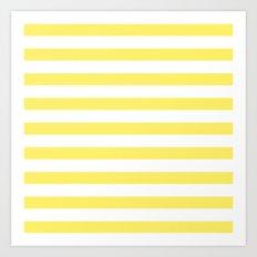 Lemon Yellow Stripes Art Print