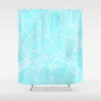 ice Shower Curtains featuring Ice by Elisabeth Fredriksson