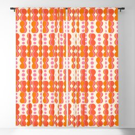 Uende Sixties - Geometric and bold retro shapes Blackout Curtain