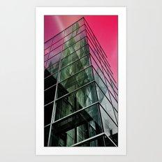Pink Building Art Print