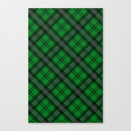 Scottish Plaid (Tartan) - Green Canvas Print