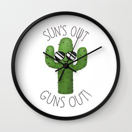 Sun's Out Guns Out! Wall Clock