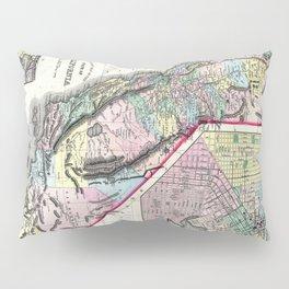 1872 Map of California and San Francisco Pillow Sham
