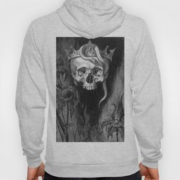 Skull Crowned with Snakes and Flowers by Henry Weston Keen Hoody