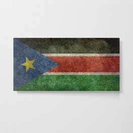 Republic of South Sudan national flag - Vintage version Metal Print