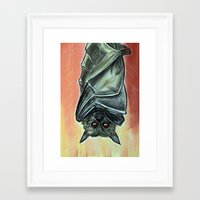 bat Framed Art Prints featuring Bat by MSG Imaging