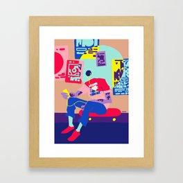 minor threat Framed Art Print