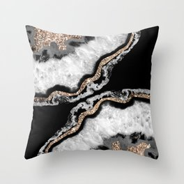 Yin Yang Agate Glitter Glam #8 #gem #decor #art #society6 Throw Pillow