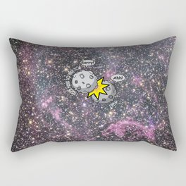 I never meant to hurt you - meteor collision in space cartoon Rectangular Pillow