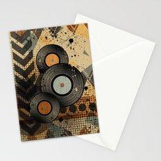 Retro Vinyl. Stationery Cards