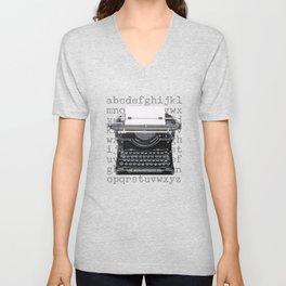 Vintage Typewriter Unisex V-Neck
