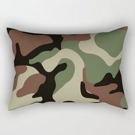 Army Camouflage Pattern Green Forest Rectangular Pillow