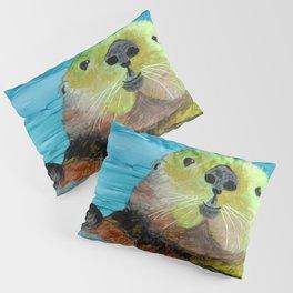 Smiling Sea Otter Pillow Sham