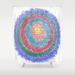 Be Like Water Sri Yantra Shower Curtain