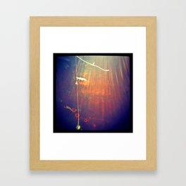 floating vine Framed Art Print
